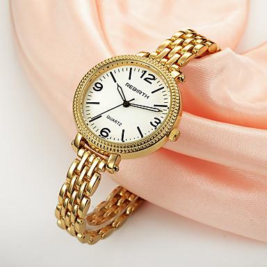 REBIRTH Dames Modieus horloge Chinees Kwarts Legering Band Zilver Goud