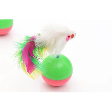 التدريب التفاعلي ألعاب مجسمة للقطط ماوس كأس ماء × 2 ماوس بلاستيك من أجل قط قطة صغيرة