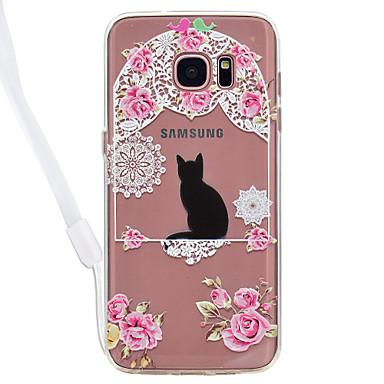 Hülle Für Samsung Galaxy S8 Plus S8 Transparent Muster Rückseitenabdeckung Katze Durchsichtig Hart Acryl für S8 S8 Plus S7 edge S7 S6