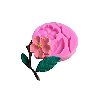 قوالب الكيك دائري وردة 3D لالسائل لكوكي لكعكة لأواني الطبخ سيليكون غير لاصقة أداة الخبز