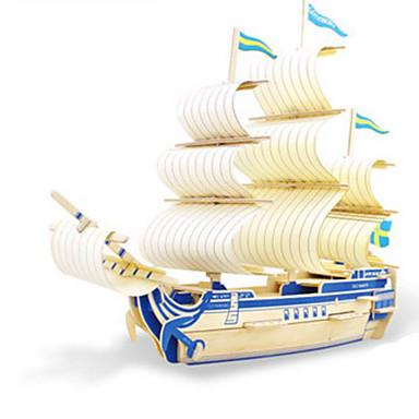 3D-puzzels Legpuzzel Hout Model Modelbouwsets Speeltjes Oorlogsschip Schip 3D DHZ Hout Niet gespecificeerd Stuks