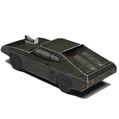 Speelgoedauto's 3D-puzzels Bouwplaat Papierkunst Vierkant Muscle Block 3D Simulatie DHZ Hard Kaart Paper Klassiek Unisex Geschenk