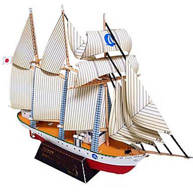 Puzzle 3D Modelul de hârtie Jucarii Pătrat Navă Reparații Hârtie Rigidă pentru Felicitări Ne Specificat Bucăți