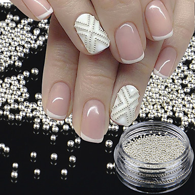 1 Bottletiny Circle Bead Decoration Silver Gold 3d Nail Art Caviar