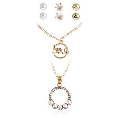 Damen Halskette / Ohrringe Halskette / Armband Anhänger Ferrolegierung Geometrische Form Personalisiert Anhänger Stil Euramerican Modisch