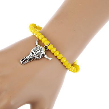 Dames Armbanden met ketting en sluiting Bedelarmbanden Wikkelarmbanden Vintage Bohémien Turks Amber Gemengd Materiaal Legering Dier