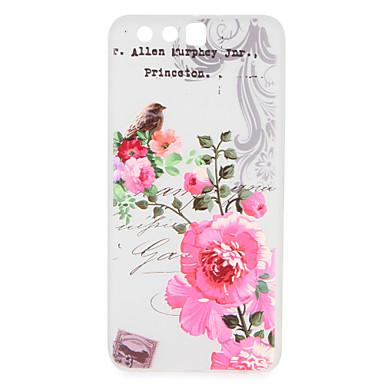 Caz pentru huawei p10 plus huawei p10 coperta back cover case cuvânt / frază desen animat floare moale tpu pentru huawei p10 plus huawei