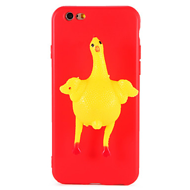 hoesje Voor Apple iPhone 7 Plus iPhone 7 squishy DHZ Achterkant 3D Cartoon dier Zacht TPU voor iPhone 7 Plus iPhone 7 iPhone 6s Plus