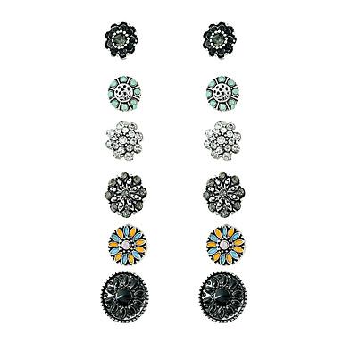 Dames Ring oorbellen - Meetkundig Zilverachtig Geometrische vorm oorbellen Voor Feest Verjaardag Casual / Dagelijks Straat