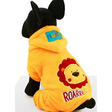 Hond Hoodies Jumpsuits Hondenkleding Casual/Dagelijks Cartoon Geel Kostuum Voor huisdieren