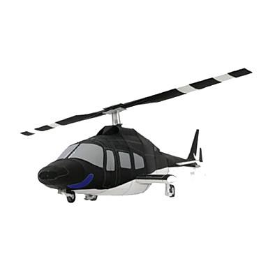 3D-puzzels Bouwplaat Papierkunst Modelbouwsets Vliegtuig Helikopter DHZ Hard Kaart Paper Klassiek Helikopter Kinderen Jongens Unisex