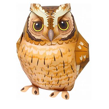 Puzzle 3D Puzzle Μοντέλα και κιτ δόμησης Lucru Manual Din Hârtie Jucarii Pasăre Rață Vultur Bufniţă 3D Animale Reparații Unisex Bucăți