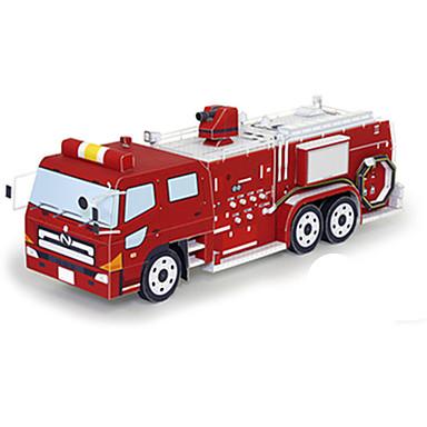 Speelgoedauto's 3D-puzzels Bouwplaat Brandweerwagen Speeltjes Vierkant Brandweerwagens 3D DHZ Hard Kaart Paper Niet gespecificeerd Stuks