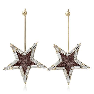 Damen Tropfen-Ohrringe Strass Einzigartiges Design Aleación Stern Schmuck Alltagskleidung Bühne Modeschmuck