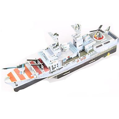 قطع تركيب3D تركيب مجموعات البناء ألعاب سفينة حربية حامل الطائرة سفينة 3D اصنع بنفسك ورق عالى الجودة غير محدد للجنسين قطع