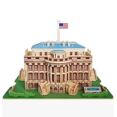 قطع تركيب3D تركيب تركيب خشبي النماذج الخشبية مجموعات البناء بناء مشهور بيت معمارية Other 3D اصنع بنفسك خشب الخشب الطبيعي كلاسيكي للجنسين