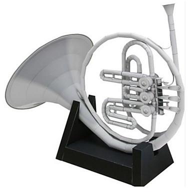 قطع تركيب3D نموذج الورق أشغال الورق مجموعات البناء مربع أدوات الموسيقى زمور فرنسي محاكاة مواد تأثيث اصنع بنفسك ورق صلب كلاسيكي آلات