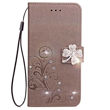 voordelige Huawei Y-serie hoesjes / covers-hoesje Voor Huawei Honor 7 / Huawei P9 / Huawei P9 Lite P10 Plus / P10 Lite / P10 Portemonnee / Kaarthouder / Strass Volledig hoesje Effen Hard PU-nahka / Huawei P9 Plus / Mate 9 Pro