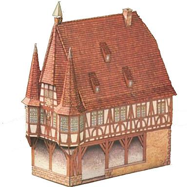 Puzzle 3D Lucru Manual Din Hârtie Pătrat Clădire celebru Casă Arhitectură 3D Reparații Hârtie Rigidă pentru Felicitări Unisex Cadou