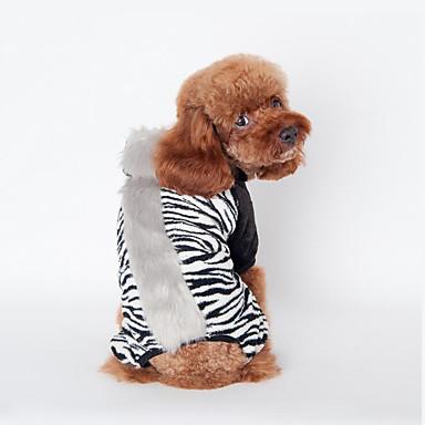 Câine Γιλέκο Îmbrăcăminte Câini Zebră Negru Maro Roz Flanel anyaga Costume Pentru animale de companie Bărbați Pentru femei Casul/Zilnic