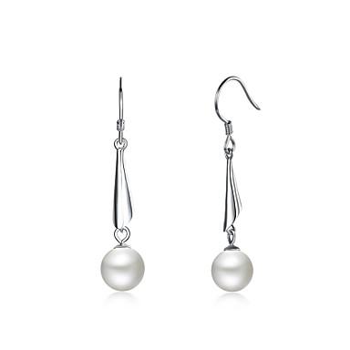 Damen Tropfen-Ohrringe Imitierte Perlen Personalisiert Luxus Geometrisch Kreisförmiges Einzigartiges Design Anhänger Stil Klassisch Retro