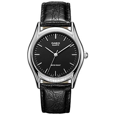 Casio Herrn Sportuhr Modeuhr Armbanduhr Armbanduhren für den Alltag Japanisch Quartz Wasserdicht Leder Band Cool Bequem Elegante Schwarz