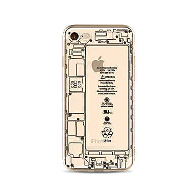 Hülle Für Apple iPhone X iPhone 8 Plus Transparent Muster Rückseite Wort / Satz Cartoon Design Weich TPU für iPhone X iPhone 8 Plus