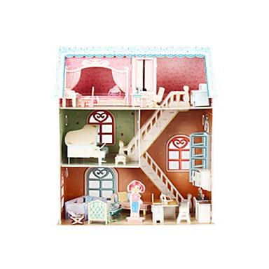 قطع تركيب3D تركيب بيت اللعبة نموذج الورق بيانو بناء مشهور خشبي للأطفال فتيات هدية