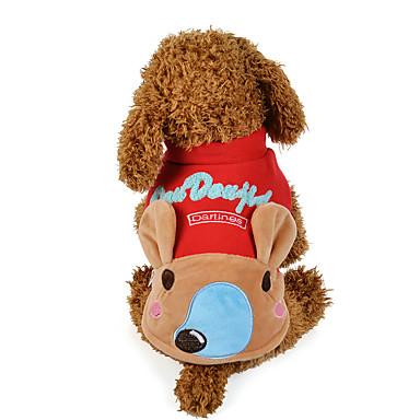 Hond Sweatshirt Hondenkleding Cartoon Geel / Rood Katoen Kostuum Voor huisdieren Casual / Dagelijks