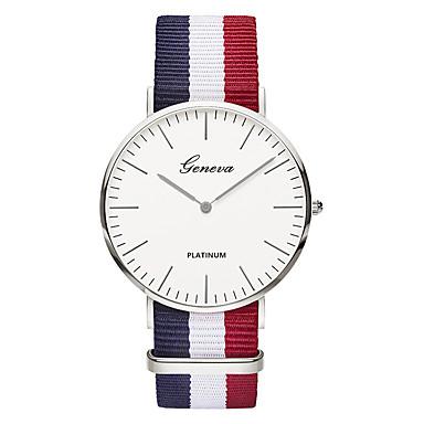 Heren Modieus horloge Polshorloge Vrijetijdshorloge Chinees Kwarts / Nylon Band Luxe Vintage Informeel Elegant Zwart Bruin