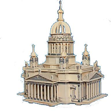 قطع تركيب3D تركيب النماذج الخشبية مجموعات البناء مستطيل قصر بناء مشهور معمارية 3D خشب الخشب الطبيعي للبالغين للجنسين هدية