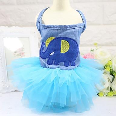 قط كلب الفساتين ملابس السهرة للرجال ملابس الكلاب حفلة ريفي كاجوال/يومي الزفاف الحيوان أزرق
