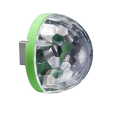 1 buc Lumini USB LED-uri de lumină de noapte Multicolor USD Control Voce Schimbare - Culoare