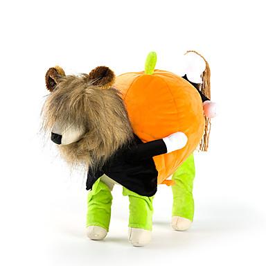 Câine Costume Îmbrăcăminte Câini Mată Negru Galben Verde Material Textil Bumbac Costume Pentru animale de companie Halloween