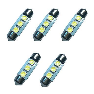 5 قطع سيارة اكليل قبة مصباح 36 ملليمتر 1 واط 3smd 5050 رقاقة 80-100lm 6500-7000 كيلو dc12v القراءة ضوء لوحة ترخيص أضواء