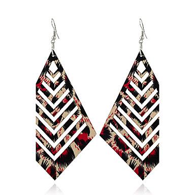 Dames Dangle Oorbellen Sieraden Meetkundig Euramerican Hout Geometrische vorm Mat zwart Sieraden Voor Causaal Outdoorkleding