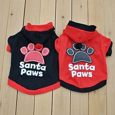 كلب ازياء تنكرية T-skjorte ملابس الكلاب الكوسبلاي حرف وعدد أسود أحمر كوستيوم للحيوانات الأليفة