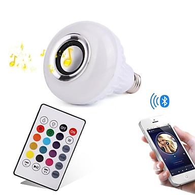YWXLIGHT® 12W 1000lm E27 Slimme LED-lampen 28 LED-kralen SMD Bluetooth Dimbaar Decoratief Op afstand bedienbaar RGB 100-240V