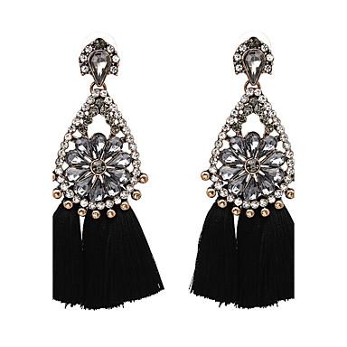 Damen Luxus überdimensional Tropfen-Ohrringe - Luxus überdimensional Schwarz Beige Purpur Rot Blau Geometrische Form Ohrringe Für