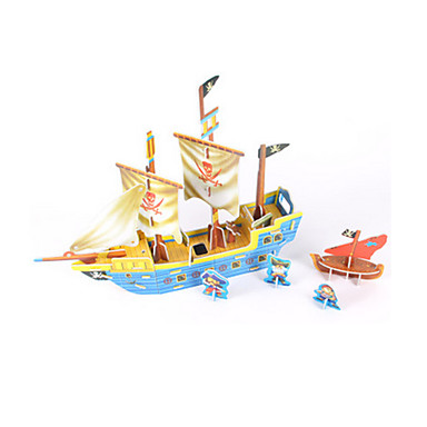3D - Puzzle Holzpuzzle Modellbausätze Schiff 3D Heimwerken Hochwertiges Papier Klassisch Seeräuber 6 Jahre alt und höher