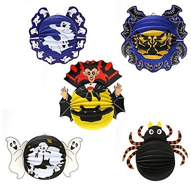 1pc decorare festival Halloween hârtie pandantiv felinar ornamente păianjen lilieci popi bântuit case bar petreceri aleatoare stil