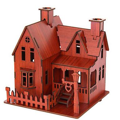 قطع تركيب3D تركيب ألعاب بناء مشهور بيت معمارية 3D خشب الخشب الطبيعي للجنسين الفتيان قطع