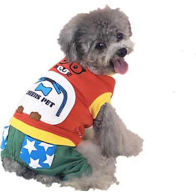 كلب حللا ملابس الكلاب دافئ كاجوال/يومي كارتون برتقالي رمادي أصفر فوشيا أخضر كوستيوم للحيوانات الأليفة