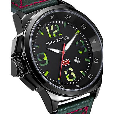 Bărbați Unic Creative ceas Ceas de Mână Ceas Militar Ceas La Modă Ceas Sport Ceas Casual Quartz Calendar Piele Autentică Bandă Charm Lux