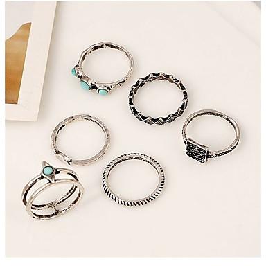 Pentru femei Fete Inele Midi Turcoaz Geometric Bohemia Stil Cute Stil stil minimalist Aliaj Circle Shape Geometric Shape Bijuterii Pentru