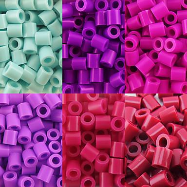 aprox 500pcs / saco de 5 milímetros contas contas de fusíveis hama-cabeça diy eva safty material para crianças (6 sortidas cor, B38-B43)