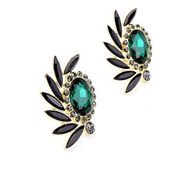 Dames Clip oorbellen Bergkristal Gepersonaliseerde Vintage Oversized Modieus Legering Drop Ovaal Sieraden Dagelijks Toneel Formeel