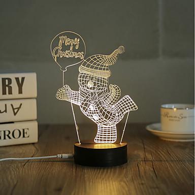 1 set, acasă populare acrilic lumina de noapte 3D a condus lampa de masă usb lumina cadouri cadouri, vesel