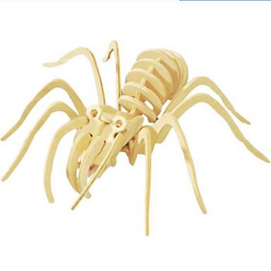قطع تركيب3D تركيب النماذج الخشبية حيوان 3D الحيوانات اصنع بنفسك خشب الخشب الطبيعي للجنسين هدية