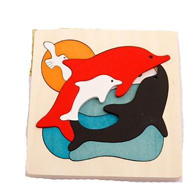 3D-puzzels Legpuzzel Educatief speelgoed Dieren Hout Natuurlijk Hout Cartoon Kinderen Unisex Geschenk